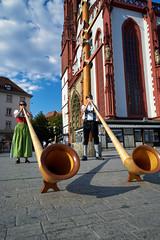 Alpine Würzburg (mattrkeyworth) Tags: zeiss würzburg marktplatz alpenhorn alpinehorn variotessartfe41635 sel1635z sonya7rii ilce7r2
