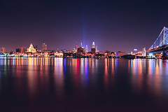 Philadelphia (mudpig) Tags: longexposure light reflection philadelphia skyscraper cityscape pennsylvania pa license philly dynamicrange benfranklinbridge hdr gettyimages royaltyfree benjaminfranklinbridge mudpig stevekelley stevenkelley licensenow