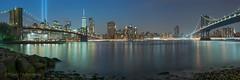 And the 9/11 tribute in light is on (// Roy //) Tags: nyc newyorkcity brooklynbridge manhattanbridge newyorkskyline bigapple newyorkpanorama newyorkcityscapes newyorkcitythatneversleeps