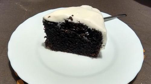Tarta de chocolate y Guinness® con cobertura de crema de queso - Paso 13