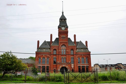 Illinois, Chicago,  Pullman National Monument,  Pullman Clock Tower and Adminstration Building