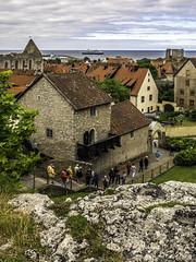 Medieval town overlook (Tony Tomlin) Tags: ruins cathedral sweden baltic medieval hal gotland visby prinsendam