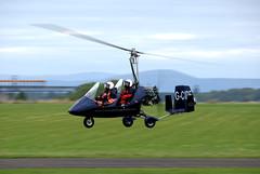 Rotorsport MTO Gyro G-CIDF (davidmcilroy) Tags: heron beautiful sunshine vintage scotland airport aircraft aviation perth scone piper flyin eurocopter grob socota