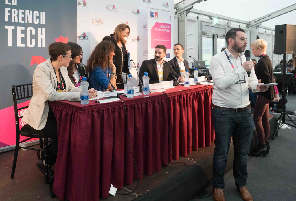TODAY AT THE WEB SUMMIT THERE WAS A PRESS CONFERENCE HOSTED BY AXELLE LEMAIRE [FRENCH MINISTER RESPONSIBLE FOR DIGITAL AFFAIRS]-109918