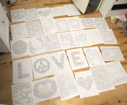Peace Love And Music Notebook Doodles Coloring Book