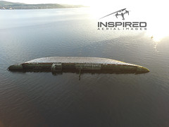 Sugar boat (Inspired Aerial Images) Tags: sea birds river clyde greenock ship shipwreck mast sunk wreck uav inspire seabirds helensburgh drone westcoastofscotland dji