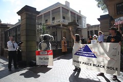 Protest at Whitehaven Coal AGM in Sydney