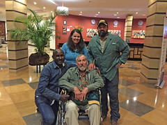 IMG_3654-b Us with Daniel Kikemu (owner/Director of DK Grand Safaris) at the Boma Hotel the night we left for home. Nairobi, Kenya. (GavinKenya) Tags: africa wild nature animal june john mammal photography gavin photographer kenya african wildlife july grand safari dk naturephotography kenyasafari africansafari 2015 safaris africanwildlife africasafari johngavin wildlifephotography kenyaafrica kenyawildlife dkgrandsafaris africa2015 safari2015 johnhgavin