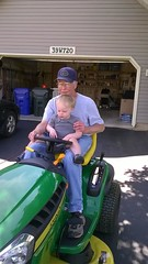 "Paul Sits on the Tractor with Grandpa Morton • <a style=""font-size:0.8em;"" href=""http://www.flickr.com/photos/109120354@N07/22597743763/"" target=""_blank"">View on Flickr</a>"