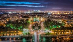 Night view of the City from top of Eiffel Tower. // Paris 2015 #APhotoADay (Suraj Bajaj) Tags: city paris france tower skyline night lights ledefrance cityscape traffic eiffeltower trails eiffel toureiffel lighttrails aphotoaday