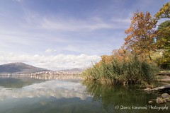 Kastoria Greece (stavros karamanis) Tags: landscape landscapephotography lake lakeforest reflections sky skylines clouds depthfield colours autumn canonusers canonphotography canon t3i tokina 1116mm f28 dxii polarize hoya kastoria greece ngc