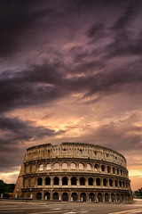 Eternal Sunset (Carlos Gotay Martnez) Tags: sky red city sunset light clouds old tourism urban architecture cityscape road orange texture shadow culture history empty purple ancient outdoors historical capital arches traditional italy rome coliseum capitalcity traveldestination