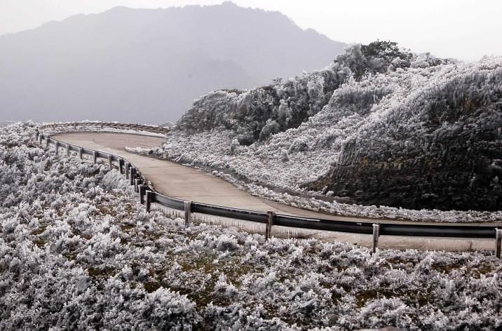tuyết ở Mẫu Sơn, Lạng Sơn