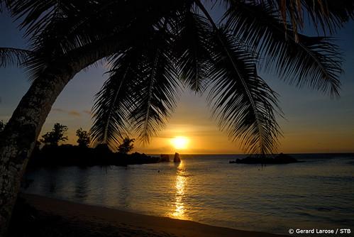 Sunset Anse Kerlan