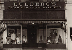 Eulberg's Clothiers and Furnishers, Storefront