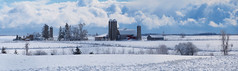 First snow (virgil martin) Tags: winter panorama snow ontario canada clouds landscape farm gimp wellesleytownship waterlooregion mennonitefarm microsoftice oloneo olympusomdem5