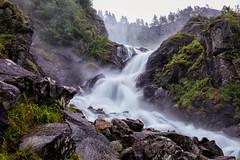 Double the Downpour (Kristin Repsher) Tags: longexposure summer water norway norge waterfall nikon d750 odda låtefoss fjordnorway