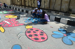 DSC_0117 (Al Ahliyya Amman University) Tags: street flowers students colors painting colorful university pretty time weekend president amman happiness jo jordan characters aau joyful       ccbysa  ahliyya          balqa      alsaro