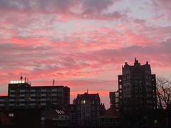 Dec.27 morninglight (JoséDay) Tags: sky sunrise earlymorning denhaag roomwithaview thehague magicmoments strawberryfields amazingsky redskyinthemorning flickrawardgroup 365360 2015pad 2015photoadaychallengegroup sunriseshine sunriseinthehague myviewfrommyroom clapclapflickrgroup
