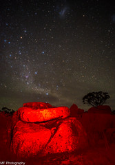 Seeing red (Mick Fletoridis) Tags: nightphotography stars australia nightsky snowymountains milkyway starscape canonlens sonyimages sonya7s