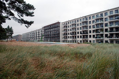 Changing Monstrosity (caprilemon) Tags: architecture monument resort kdf kraftdurchfreude binzprora ruegen rügen island germany beach sea coast prora realestatedevelopment condos condominiums transformation apartments construction constructionsite kdfbad monumentalarchitecture