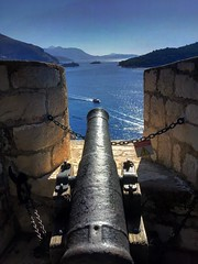 Dubrovnik- ready for defensive action  (darklord.vic) Tags: defensive sea cannon iphone6plus iphone croatia dubrovnik