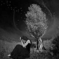 passing (old&timer) Tags: background blackandwhite infrared filtereffect composite surreal model deviantart meetmeatthelake2nite song4u oldtimer imagery digitalart laszlolocsei