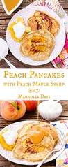 Peach Pancakes with (alaridesign) Tags: peach pancakes with maple syrup for sundaysupper