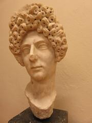 Albania - Near Pojani - Apollonia - Museum - Bust of Roman matron (JulesFoto) Tags: albania apollonia pojani fier museum bust