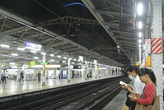 tokyo5946 (tanayan) Tags: urban town cityscape tokyo japan nikon j1  night view station akihabara sobu jr