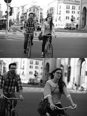 [La Mia Citt][Pedala] sorridendo (quasi) (Urca) Tags: milano italia 2016 bicicletta pedalare ciclista ritrattostradale portrait dittico nikondigitale mir bike bicycle biancoenero blackandwhite bn bw 89590 sorridendo