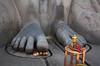 Shravanabelagola - miniature version of Gomathiswara statue (mageshb) Tags: virajpet shravanabelagola