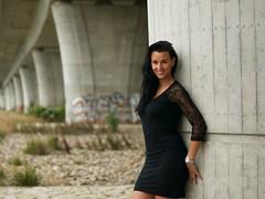 Veronika (HaniRM) Tags: portraitphotography portraitwoman longblackhair blackdress lacedress czechwoman
