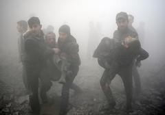 SYRIA-CONFLICT (camerajabber) Tags: middleeast victim consquencesofwar airraid horizontal casualty civilianpopulation revolt civilwar smoke bombardment douma syria syr