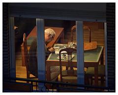 El pintor (The painter) (Victor Hugo Ganoza) Tags: pintor painter ventana window casa house viejo old man pintando painting nikon d750 fx showcase victor hugo ganoza