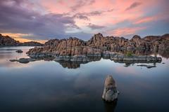 Watson-Lake-16576 (Michael-Wilson) Tags: watsonlake michaelwilson prescott arizoan lake water sunset sunrise clouds granite rock reflection tranquil