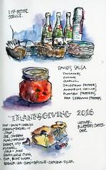 Food Sketches, 24 Nov 2016 (calliartist) Tags: sketches urbansketches foodart
