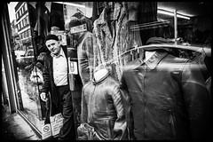 Leather guy (GioMagPhotographer) Tags: leather ricohgr man england london uk shopkeeper