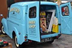 2016-10-01: Barber & Shop (psyxjaw) Tags: london londonist vintage festival classic car boot sale classiccar kingscross shopping lewiscubitsquare blue van clothes