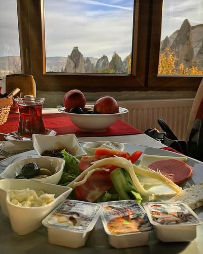 #breakfast with a #view #Goreme #Kapadokya #Cappadocia #Turkey #HistoricalGoremeHouse #TurkishTea