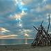 La cabane sur la plage.