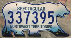 NORTHWEST TERRITORIES curent  UNDATED LICENSE PLATE 2016 NATURAL no. 337395 (woody1778a) Tags: northwestterritories nwt canada arctic bear licenseplate numberplate registrationplate mycollection myhobby alpca1778 registration