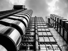 London UK (THE ARCH1) Tags: lloydsbuilding richardrogers london uk greatbritian england blackandwhite bw