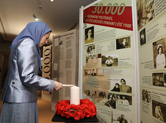 Paying tribute 2 the martyrs of the 1988massacre at the Mutualit Hall- Paris- Nov. 26. 2016 (maryamrajavi) Tags: maryamrajavi endingimpunity syria ghozali aleppo againsthumanity iran iranianresistance regime iranianregime pmoi campliberty mullahs ashraf valiant massoudrajavi freedom khamenei maleki attacks parliament evinprison gohardasht politicalprisoners 1988 existence people worldpowers us massacres middleeast movement victory