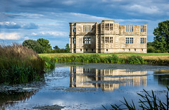 Lyveden New Bield (pietkagab) Tags: greatbritain blue light summer england house reflection building heritage history tourism water stone architecture clouds landscape outdoors photography evening pond europe britain exploring sightseeing northamptonshire visit palace unfinished summerhouse listed k5 countryhouse eastmidlands lyvedennewbield tresham pentaxk5ii pietkagab piotrgaborek