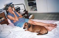 1999-11-SA Fran en Neelsie (fjordaan) Tags: hermanus southafrica fran 1999 scanned sa neelsie