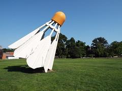 DSCF2299 (dishfunctional) Tags: city sculpture nelson kansas atkins shuttlecock