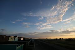 IMG_2221 (Crab2222) Tags: blue sunset sky food sun beach yellow cloudy wide sunny wideangle bluesky kites beachhuts frinton frintononsea skatteredclouds