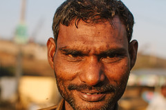 Shipyard Guard, Alang India (AdamCohn) Tags: portrait india adam beach metal labor recycling scrapping scrap cohn alang shipyards shipbreaking shipbreaker shipbreakers adamcohn wwwadamcohncom