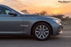 Great Sunset! (mahernaamani) Tags: sunset summer mountain mountains tree cars love nature beauty car canon wow germany photography photo automobile europe photographer nest tripod nation automotive tires german bmw pro lovely rims oman muscat 7series  6d bimmer 740   carporn             germancars bmw7  bemywife bmw740 740li canon6d bmw740li  omancars  europecars carswithoutlimits bmwnation